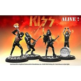 KNUCKLEBONZ ROCK ICONZ - KISS ALIVE SET 4X 20CM RESIN STATUE FIGURE