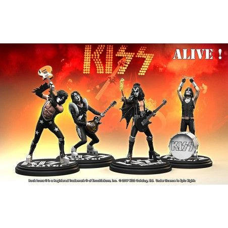 ROCK ICONZ - KISS ALIVE SET 4X 20CM RESIN STATUE FIGURE