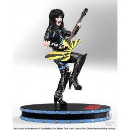 KNUCKLEBONZ ROCK ICONZ - MOTLEY CRUE MICK MARS 21CM RESIN STATUE FIGURE