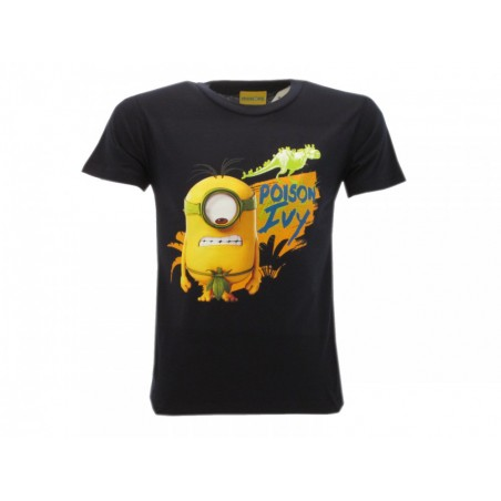 MAGLIA T SHIRT MINIONS POISON IVY BLUE NAVY