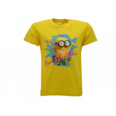 MAGLIA T SHIRT MINIONS PROUD TO BE A MINION GIALLO