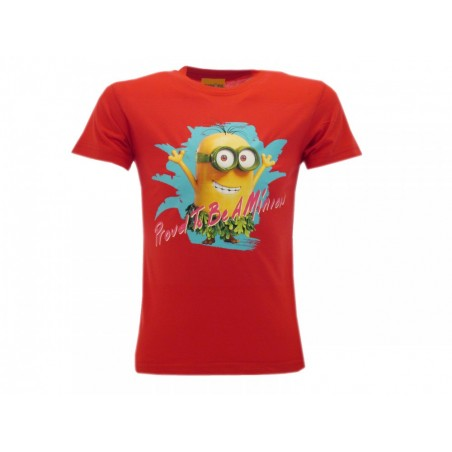 MAGLIA T SHIRT MINIONS PROUD TO BE A MINION ROSSA