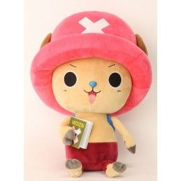PUPAZZO PELUCHE ONE PIECE NEW WORLD - TONY CHOPPER MEDIZIN BOOK 45CM PLUSH SAKAMI MERCHANDISE