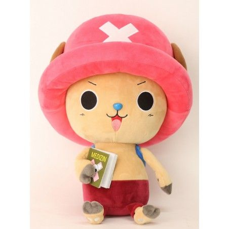 PUPAZZO PELUCHE ONE PIECE NEW WORLD - TONY CHOPPER MEDIZIN BOOK 45CM PLUSH
