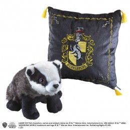 NOBLE COLLECTIONS HARRY POTTER HUFFLEPUFF MASCOT PLUSH CUSHION PELUCHE CUSCINO TASSOROSSO
