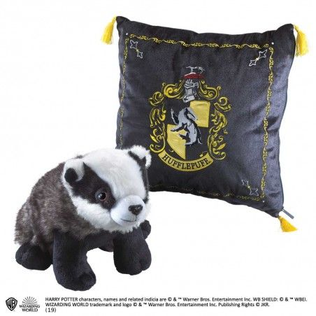 HARRY POTTER HUFFLEPUFF MASCOT PLUSH CUSHION PELUCHE CUSCINO TASSOROSSO