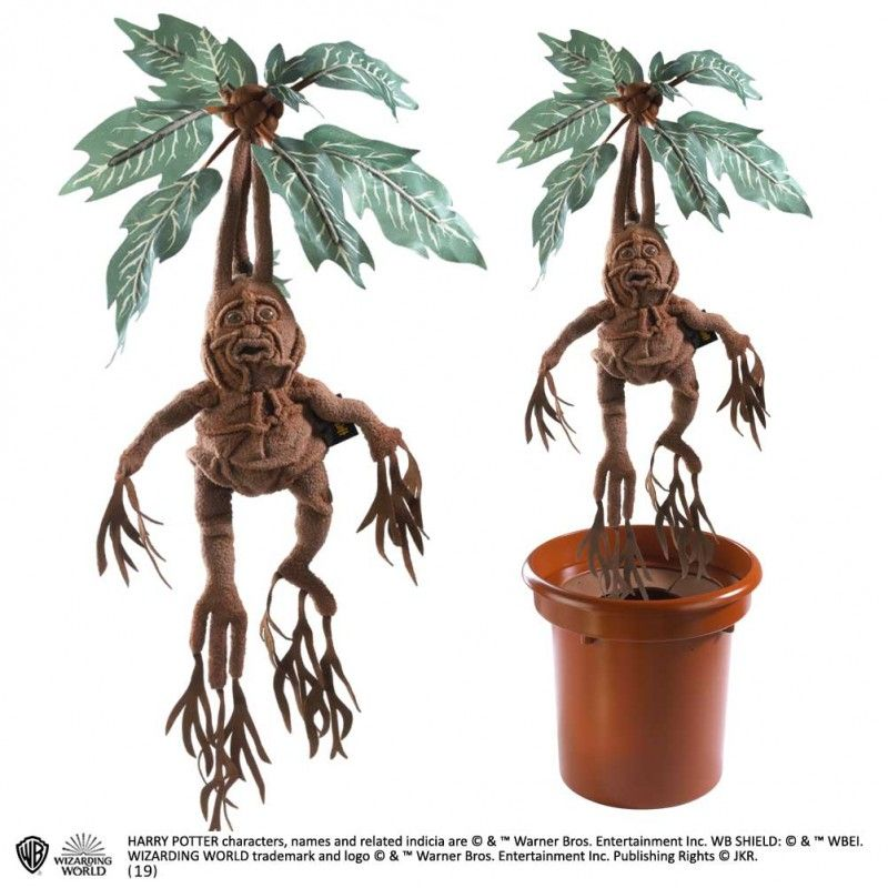 NOBLE COLLECTIONS HARRY POTTER - MANDRAKE MANDRAGOLA ELECTRONIC COLLECTOR VER PELUCHE PLUSH 36 CM
