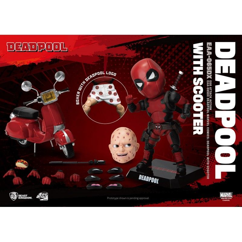 BEAST KINGDOM MARVEL DEADPOOL DELUXE VERSION EGG ATTACK ACTION FIGURE