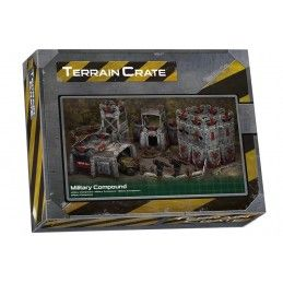 TERRAIN CRATE - MILITARY COMPOUND SET MODEL KIT MANTIC