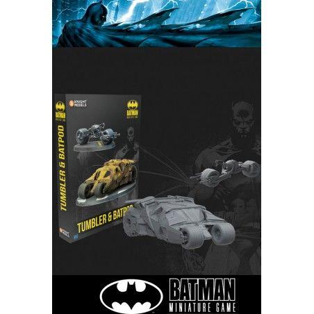 BATMAN MINIATURE GAME - TUMBLER AND BATPOD MINI RESIN STATUE FIGURE