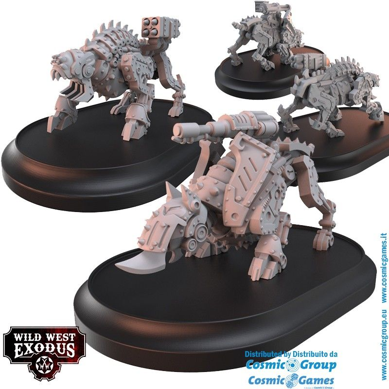 WILD WEST EXODUS ARMOURED JUSTICE STARTER SET RESIN MINIATURES WARCRADLE STUDIOS
