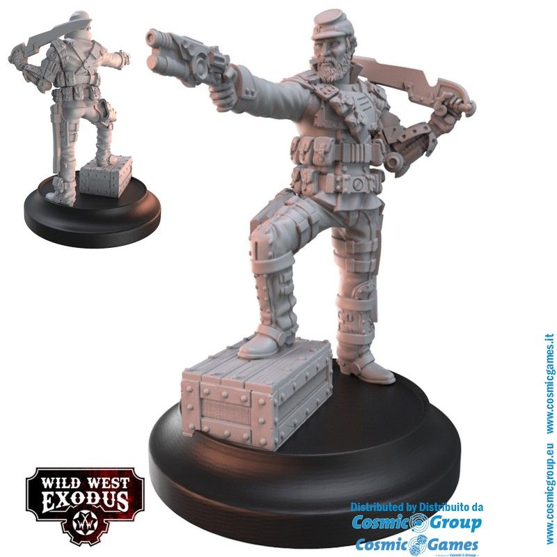 WARCRADLE STUDIOS WILD WEST EXODUS CONFEDERATE REBELLION STARTER SET RESIN MINIATURES