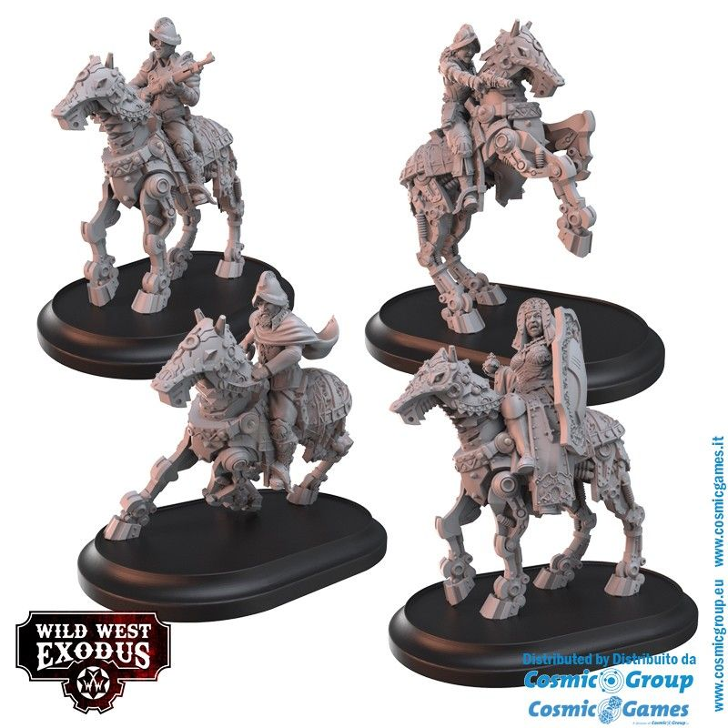 WILD WEST EXODUS THE FAITHFUL OF CASTILLA POSSE SET RESIN MINIATURES WARCRADLE STUDIOS