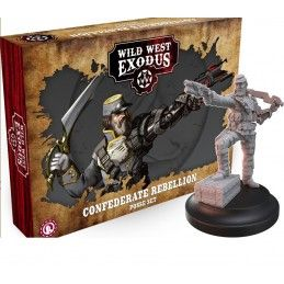 WARCRADLE STUDIOS WILD WEST EXODUS CONFEDERATE REBELLION POSSE SET RESIN MINIATURES