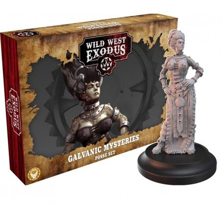 WILD WEST EXODUS GALVANIC MYSTERIES POSSE SET RESIN MINIATURES