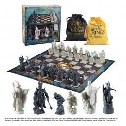 NOBLE COLLECTIONS THE LORD OF THE RINGS - CHESS SET SCACCHI BATTLE FOR MIDDLE EARTH