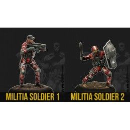 KNIGHT MODELS BATMAN MINIATURE GAME - MILITIA INVASION FORCE BAT BOX MINI RESIN STATUE FIGURE