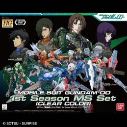 HIGH GRADE HG GUNDAM 00 1ST SEASON MS 5X SET CLEAR COLOR 1/144 MODEL KIT BANDAI