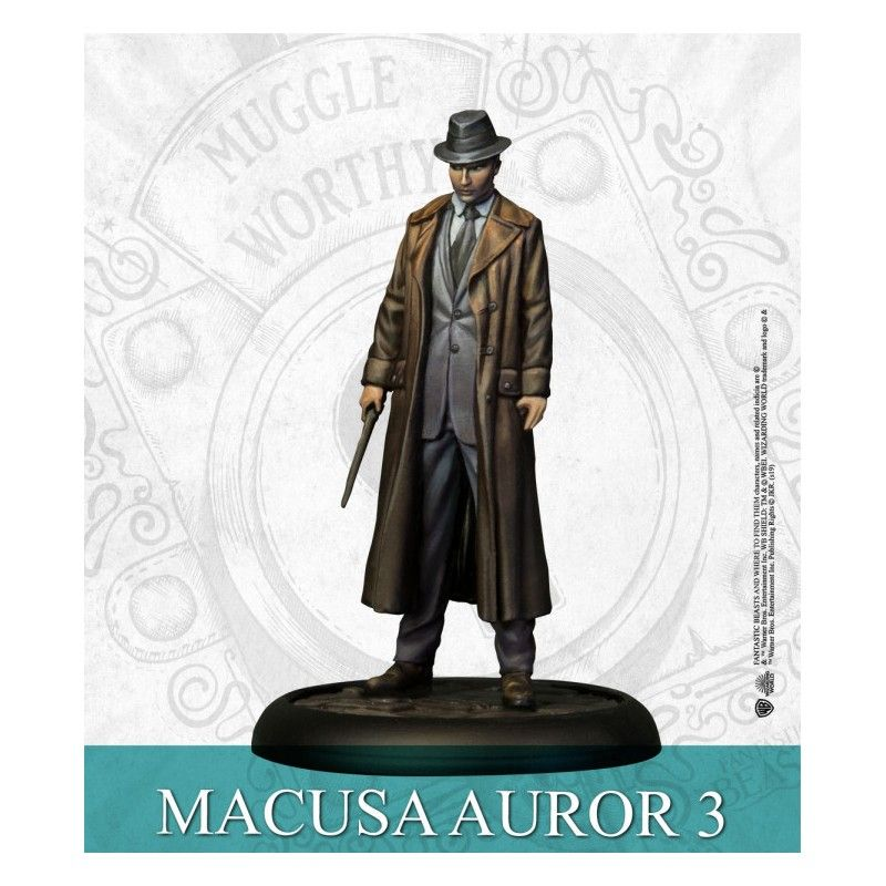 KNIGHT MODELS HARRY POTTER MINIATURE ADVENTURE GAME - FANTASTIC BEASTS PRESIDENT PICQUERY AND AUROR MINI RESIN STATUE FIGURE