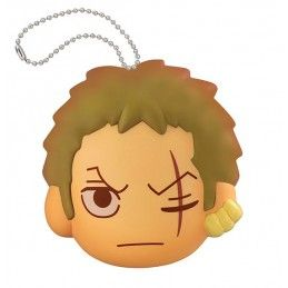 MEGAHOUSE ONE PIECE FLUFFY SQUEEZE - ZORO FACE KEYCHAIN PORTACHIAVI ANTISTRESS