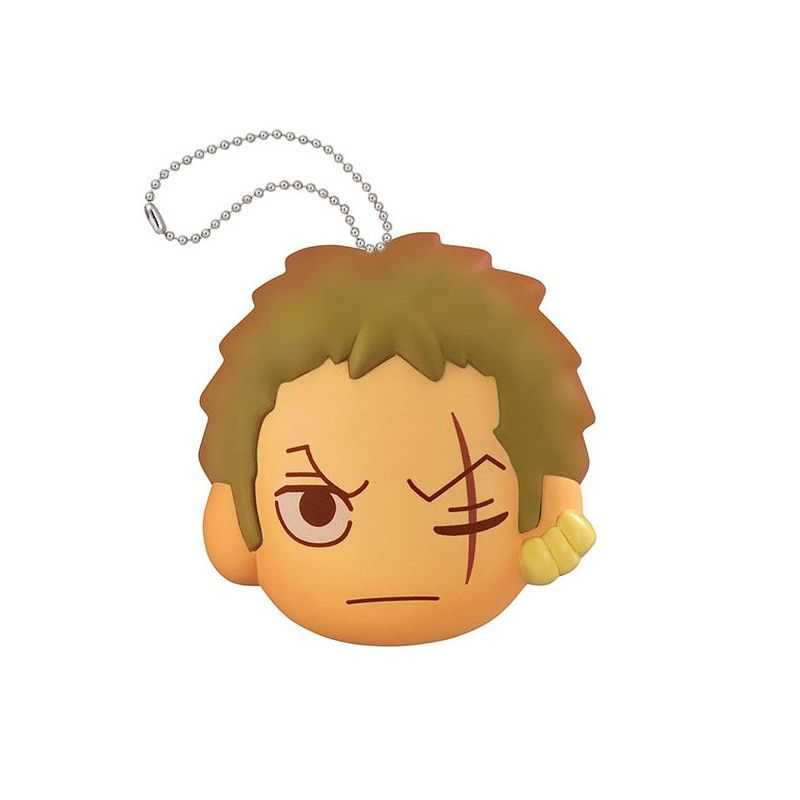 ONE PIECE FLUFFY SQUEEZE - ZORO FACE KEYCHAIN PORTACHIAVI ANTISTRESS MEGAHOUSE