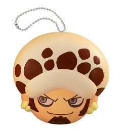 ONE PIECE FLUFFY SQUEEZE - TRAFALGAR LAW FACE KEYCHAIN PORTACHIAVI ANTISTRESS MEGAHOUSE
