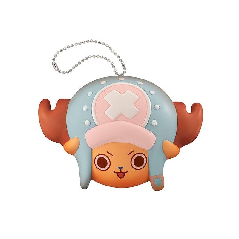 MEGAHOUSE ONE PIECE FLUFFY SQUEEZE - TONY CHOPPER FACE KEYCHAIN PORTACHIAVI ANTISTRESS
