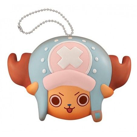 ONE PIECE FLUFFY SQUEEZE - TONY CHOPPER FACE KEYCHAIN PORTACHIAVI ANTISTRESS