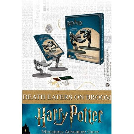 HARRY POTTER MINIATURES ADVENTURE GAME - DEATH EATERS ON BROOM MINI RESIN STATUE FIGURE