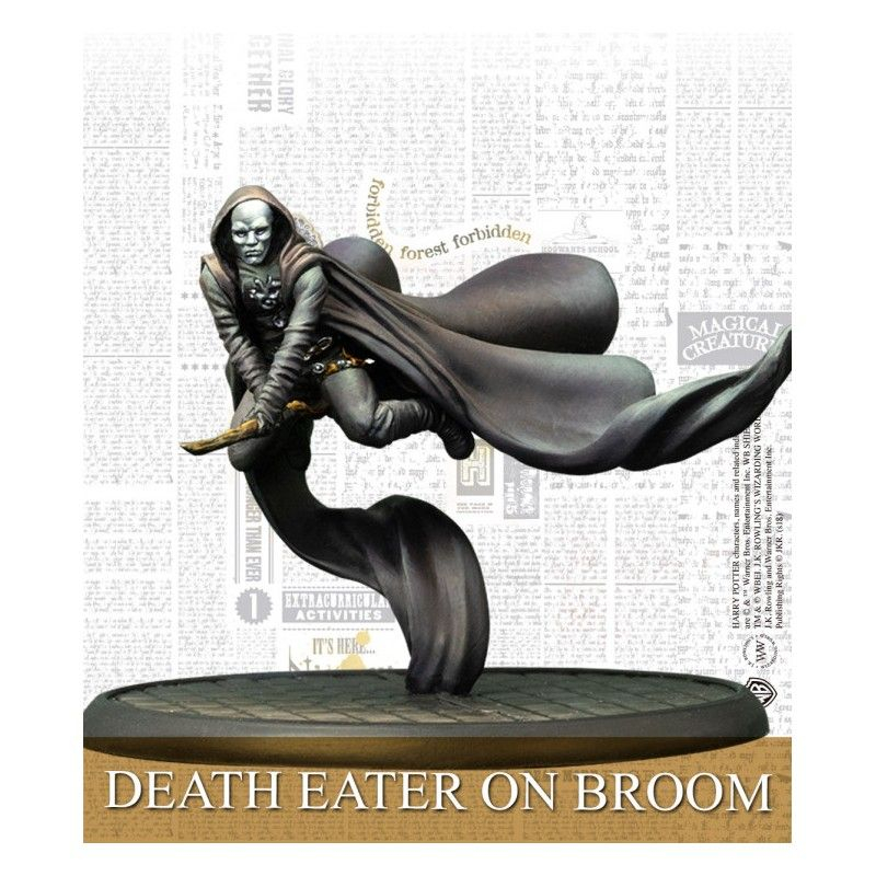 HARRY POTTER MINIATURES ADVENTURE GAME - DEATH EATERS ON BROOM MINI RESIN STATUE FIGURE KNIGHT MODELS