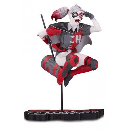 HARLEY QUINN RED WHITE AND BLACK BY GUILLEM MARCH STATUE RESIN 18CM FIGURE
