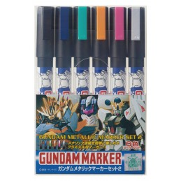 GUNDAM METALLIC MARKER SET 2 PER MODEL KIT BANDAI