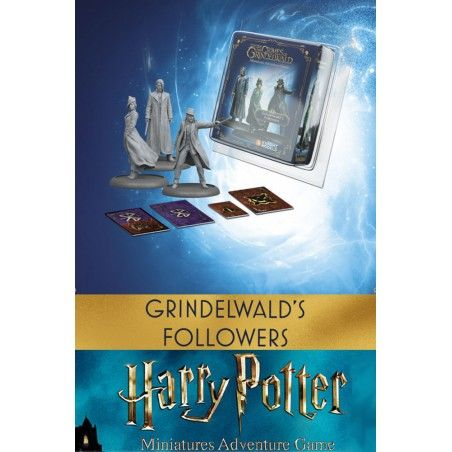 HARRY POTTER MINIATURES ADVENTURE GAME - FANTASTIC BEASTS GRINDELWALD'S FOLLOWERS MINI RESIN STATUE FIGURE