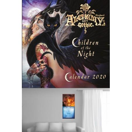 ALCHEMY GOTHIC CHILDREN OF THE NIGHT CALENDAR 2020 CALENDARIO