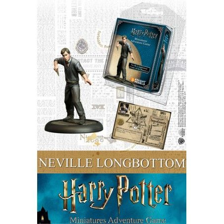 HARRY POTTER MINIATURES ADVENTURE GAME - NEVILLE LONGBOTTOM MINI RESIN STATUE FIGURE