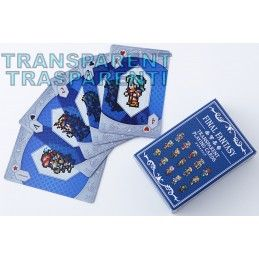 SQUARE ENIX FINAL FANTASY TRANSPARENT PLAYING CARDS MAZZO CARTE DA GIOCO