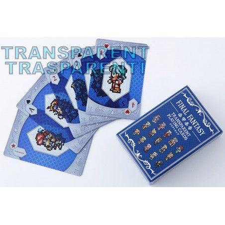 FINAL FANTASY TRANSPARENT PLAYING CARDS MAZZO CARTE DA GIOCO
