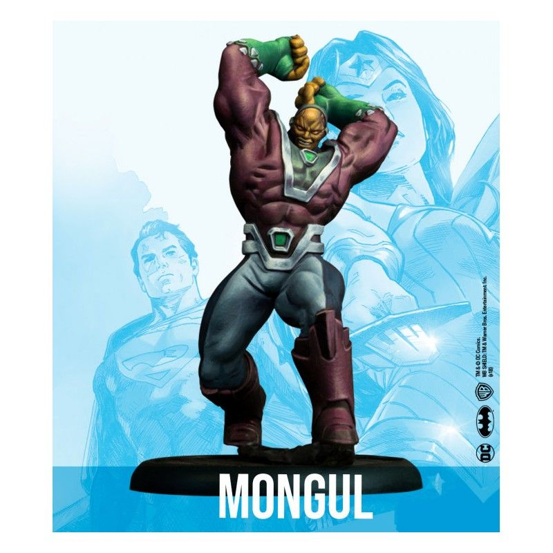 DC UNIVERSE MINIATURE GAME - CYBORG SUPERMAN AND MONGUL MINI RESIN STATUE FIGURE KNIGHT MODELS