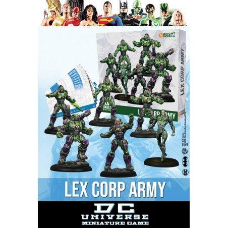 DC UNIVERSE MINIATURE GAME - LEX CORP ARMY MINI RESIN STATUE FIGURE