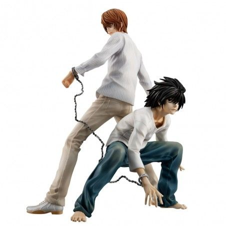 DEATH NOTE - LIGHT YAGAMI RAITO AND L GEM STATUE 25 CM FIGURE