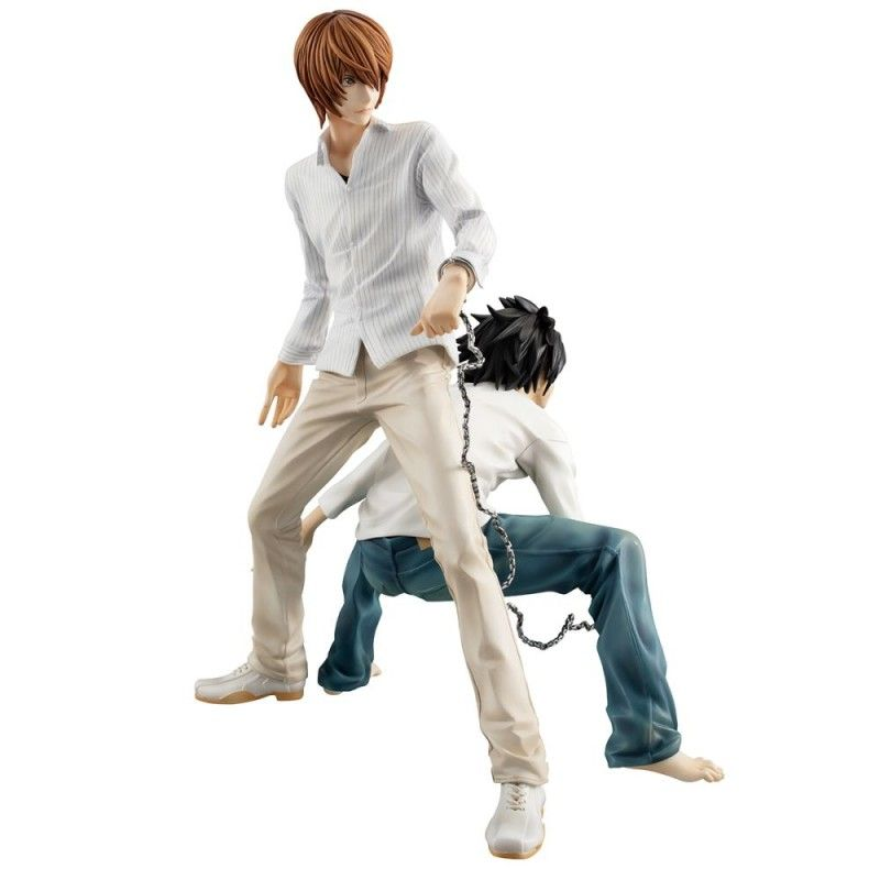 MEGAHOUSE DEATH NOTE - LIGHT YAGAMI RAITO AND L GEM STATUE 25 CM FIGURE