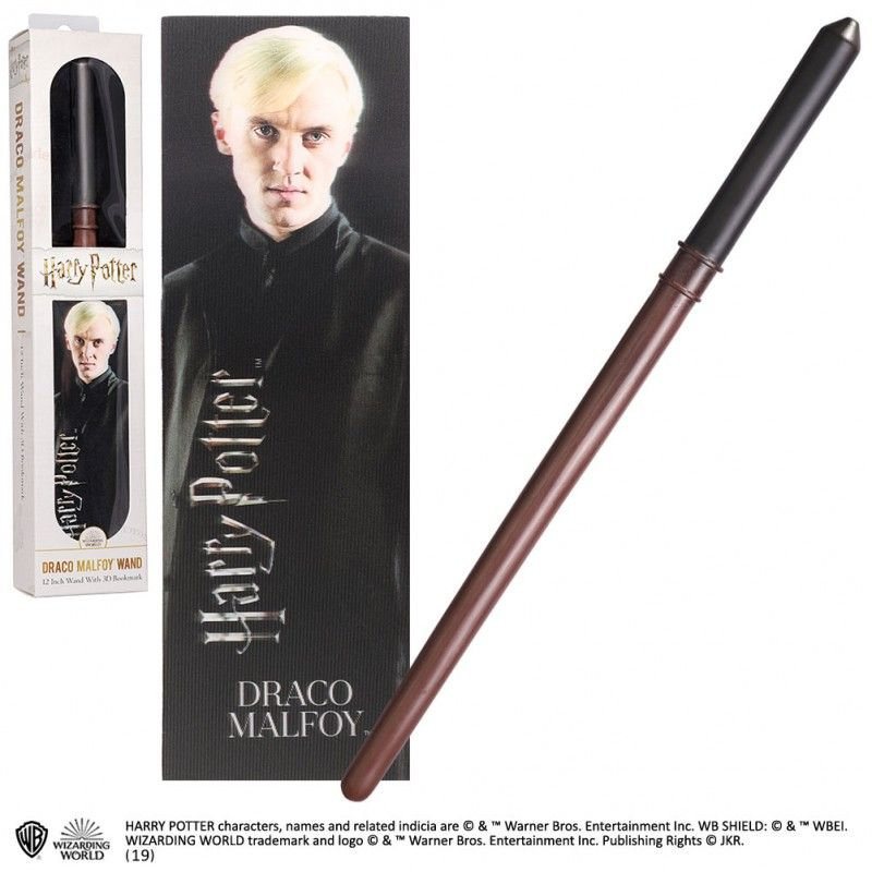 HARRY POTTER - DRACO MALFOY PVC WAND REPLICA BACCHETTA NOBLE COLLECTIONS