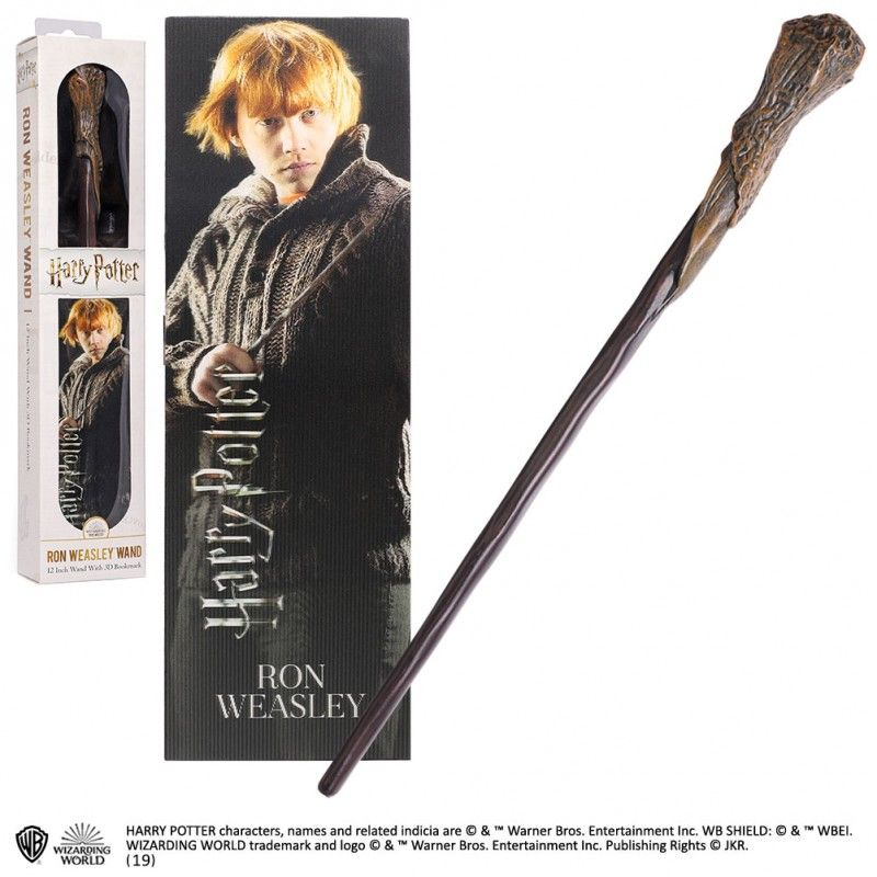 NOBLE COLLECTIONS HARRY POTTER RON WEASLEY PVC WAND REPLICA