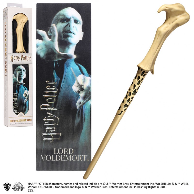 HARRY POTTER - LORD VOLDEMORT PVC WAND REPLICA BACCHETTA NOBLE COLLECTIONS