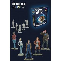 WARLORD GAMES DOCTOR WHO INTO THE TIME VORTEX 10TH DOCTOR AND COMPANIONS SET MINI FIGURE