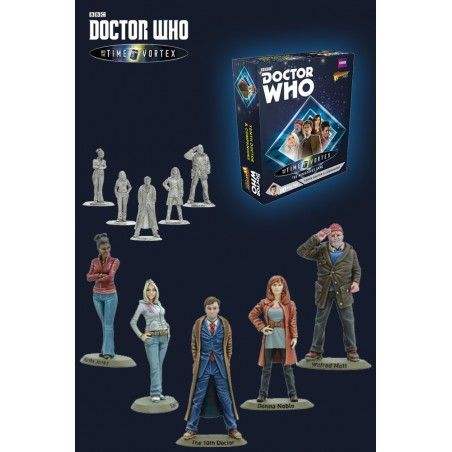 DOCTOR WHO INTO THE TIME VORTEX 10TH DOCTOR AND COMPANIONS SET MINI FIGURE