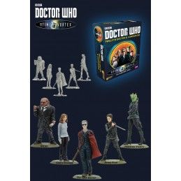 DOCTOR WHO INTO THE TIME VORTEX 12TH DOCTOR AND COMPANIONS SET MINI FIGURE WARLORD GAMES