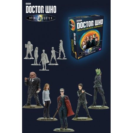 DOCTOR WHO INTO THE TIME VORTEX 12TH DOCTOR AND COMPANIONS SET MINI FIGURE