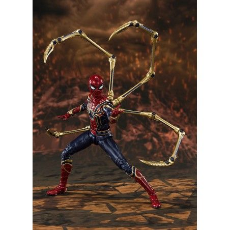 AVENGERS ENDGAME IRON SPIDER-MAN FINAL BATTLE S.H. FIGUARTS ACTION FIGURE