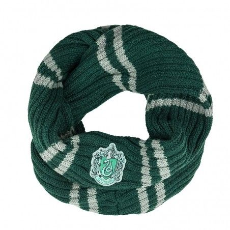 HARRY POTTER SLYTHERIN SERPEVERDE INFINITE SCARF SCIARPA AD ANELLO